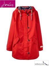 Joules Coast Mid Length Fully Waterproof Jacket - Chilli Pepper - Sizes UK 8-18