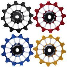 12T Bike Bicycle Aluminum Rear Derailleur Pulley Ceramic Bearing Jockey Wheel