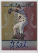 2011 Leaf Valiant Red VA-CS2 Clay Schrader Auto Autographed Rookie Baseball Card