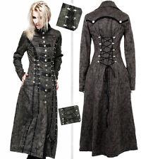 Manteau gothique lolita steampunk vintage cuir vieilli laçages corset Punkrave G