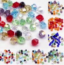 40/200 Kristallperlen Bicone Doppelkegel Preciosa Perlen 3mm MIX Mischung