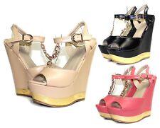 "PD-Fz-33 Fashion Wedges Party Prom Stylish 6"" High Heel 2"" Platform Women Shoes"