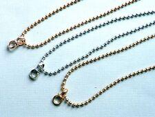 KUGELKETTE lange Halskette für Anhänger Charm Metall 3 mm 90 cm Auswahl 2662