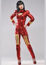 Womens Deluxe Iron Man Style Superhero Costume