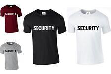 SECURITY TSHIRT WORK lot BODYGUARD FANCY DRESS DOORMAN POLICE (SECURITY,TSHIRT)