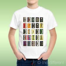 T-Shirt bébé Garçon Cassettes Musique Multicolore Idée Cadeau