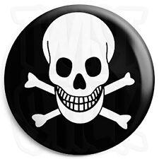 Death Skull - Button Badge - 25mm Skateboard Badges with Fridge Magnet Option
