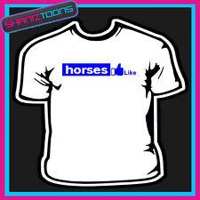 LOVE HORSES SLOGAN TSHIRT MENS WOMENS & KIDS SIZES