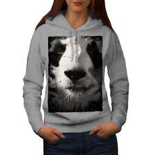 Wellcoda Panda Face Cute Womens Hoodie, Beautiful Casual Hooded Sweatshirt