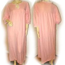 PINK 3/4 Sleeve NIGHT GOWN Intimate SLEEPWEAR Sleep Wear MAXI DRESS Womens S M