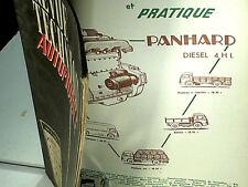 REVUE TECHNIQUE 1957 CAMIONS PANHARD NOVIC MOTEUR 4HL : VALABLE POUR CHAUSSON