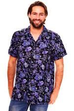 Funky Camisa Hawaiana Skull Azul