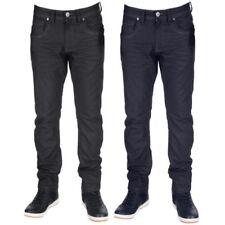 Hombre Crafted Vaquero Crosshatch Pantalones Entallados Menzo Elásticos Nuevo