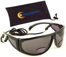 Mens Polarized Bifocal Sunglasses Sun Reader Tinted Reading Glasses Fishing Golf