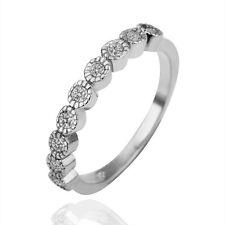 18K White Gold GP Fashion Wedding Engagement Ring SWAROVSKI Crystal Size 7 to 8