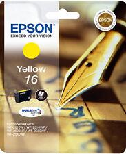 CARTOUCHE EPSON NEUVE 16 JAUNE / stylo plume t 16 t16 t1624 workforce wf-2010w