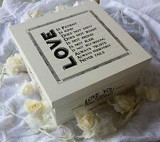 Este de la India De Novia Vintage De Madera Memoria Caja Keepsake Amor Matrimonio Crema