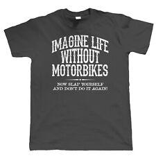 Life Without Motorbikes Mens Biker T Shirt, Superbike TT Gift Him Dad Grandad