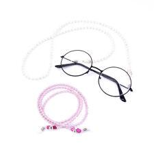 Fashion Pearl Beads Sunglasses Eyeglass Lanyard Cord Chain Neck Holding Strap ZB