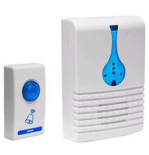 Door bell wireless cordless 32 chime 100M range LED's digital portable doorbell