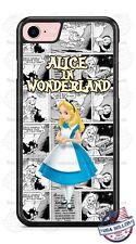 Disney Alice in Wonderland Sketch Phone Case Cover For iPhone Samsung Google LG