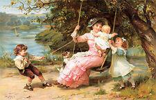 The Swing by Frederick Morgan (Art Print of Vintage Art)