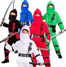 Garçons puissance Ninja Guerrier Samouraï Japonais enfant kids fancy dress costume outfit