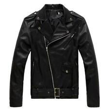 Hot Mens Black Genuine Buffalo Leather Motorcycle Jacket Coat Biker ZipOut Liner