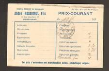 """PERPIGNAN (66) Commerce """"Abdon ROSSIGNOL Fils"""" en 1933"""