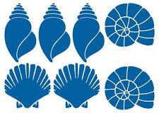 MUSCHEL AUFKLEBER Sticker Deko Bad Meer Maritim Fliese Seashell Ocean Wandtattoo