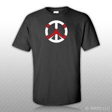 Alabama Flag Peace Symbol T-Shirt Tee Shirt Cotton Al sign no war