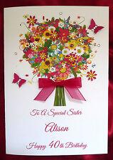 Personalised Handmade Birthday Card - 21st 30th 40th 50th 60th 80th 90th  (1571)
