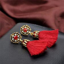 Women Retro Style Rhinestones Tassel Dangles.Stud Crystals Earrings Jewelry ZY