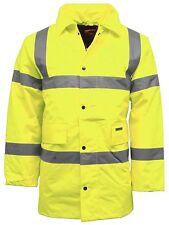 Hi Vis Parka Waterproof Coat Jacket   Workwear Safety Mens Visibility Coat