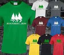 RUN FOREST RUN Mens T Shirt Funny Joke Forest Gump Retro Movie Slogan Gift