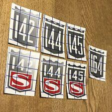 Volvo 142 - 144 - 145 - 164 Vintage Badge Decals (for Window, Laptop, etc.)