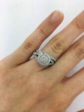 2.50 Ct Round Cut Diamond Bridal Engagement Wedding Ring Set 14K White Gold Over