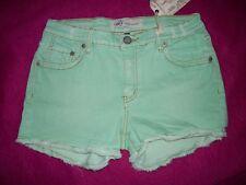 M2F BRAND DENIMS Womens Mini Shorts in Distressed Mint Greenl.  Several Sizes