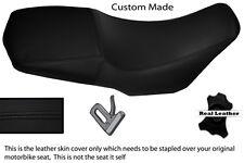 BLACK STITCH CUSTOM FITS YAMAHA XT 660 Z XTZ 08-13 100% LEATHER SEAT COVER