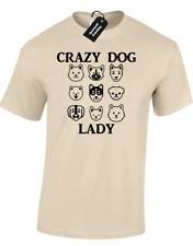 CRAZY DOG LADY UNISEX T-SHIRT FUNNY ANIMAL LOVER PUG CUTE ANIMAL MEME DESIGN