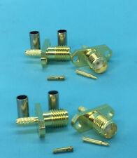 SMA/RP-SMA Female Jack 2-Hole Flange/Panel Crimp RG316 RG179 cable RF connector