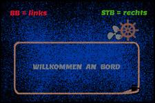 Fußmatte Schmutzfangmatte Teppich waschbar Gummirand 75x50 cm Boot Maritim