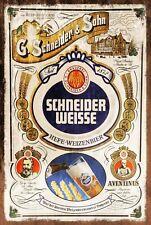 Schneider Weisse Beer Brewery Advert Vintage Retro style Metal Sign, plaque, bar