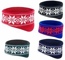 Soft Fair Isles Headband Winter Warm Hat Ear Muff Head Warmer Ski Snowboard
