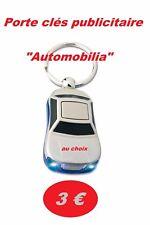 """Porte-clés publicitaires """"Automobilia"""" (au choix)"""