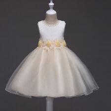 Gigileer Mädchen Prinzessin Märchen Party Hochzeit Spitze Kleid Rosa Champagner