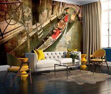 3D Nave Giro 3 Parete Murale Foto Carta da parati immagine sfondo muro stampa