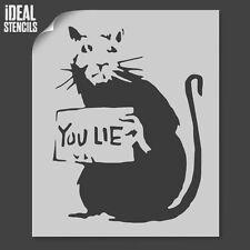 Banksy que mentira Rata Stencil Hogar Decoración Craft Arte Pintura Reutilizable Ideales Stencils