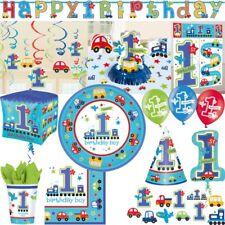 1. Cumpleaños Adolescente Coches Decoración Fiesta Set erster Niños Número 1