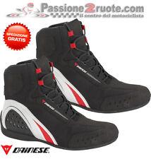 Scarpe Dainese Motorshoe D-WP Nero Bianco Rosso Moto Shoes